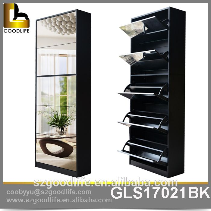 2015 On Line Shopping Saving Space Modern Wooden Shoe Cabinet With Mirror    Buy Shoe Cabinet