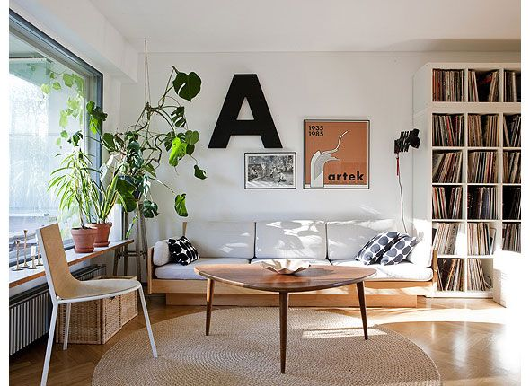 coffee table: Living Area, Spaces, Modern Living Rooms, Coffee Tables, Big Letters, Plants, Coff Tables, Records Collection, Records Storage