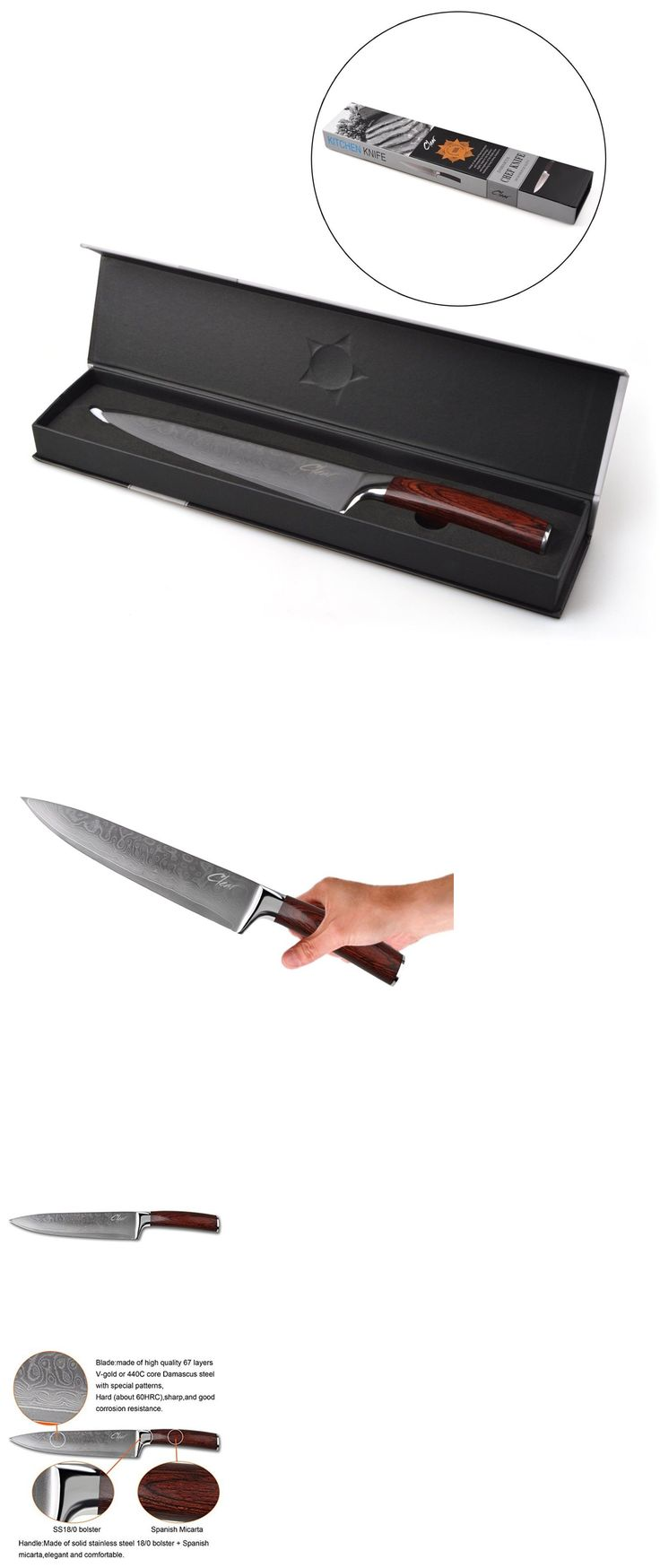 best 20 kitchen knives ideas on pinterest knife storage kitchen and steak knives 177005 handmade chef knife damascus steel blade kitchen knives brazilian wood