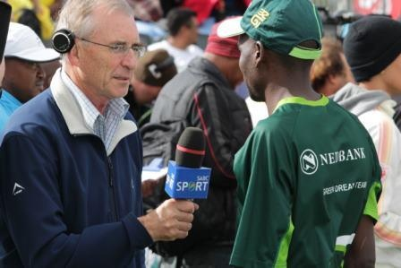 Collen Makaza, 4th in Old Mutual Two Oceans Marathon 2013 TV interview with Ian Laxton