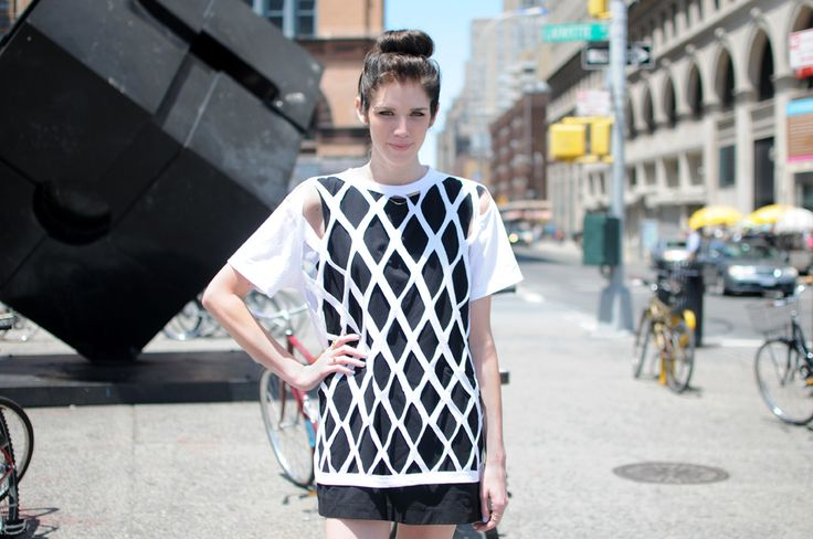 Easy, breezy mesh shirt DIY...photo by Lia Schryver. #r29summerstyle
