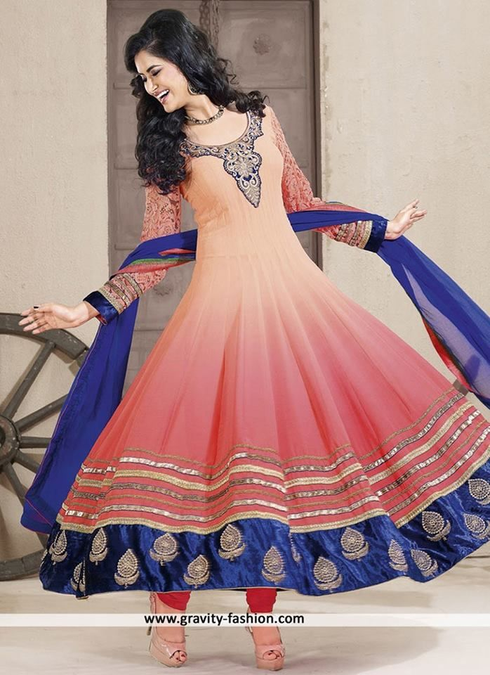 #PINK #ANARKALI SALWAR SUIT IN #PURE #GEORGETTE