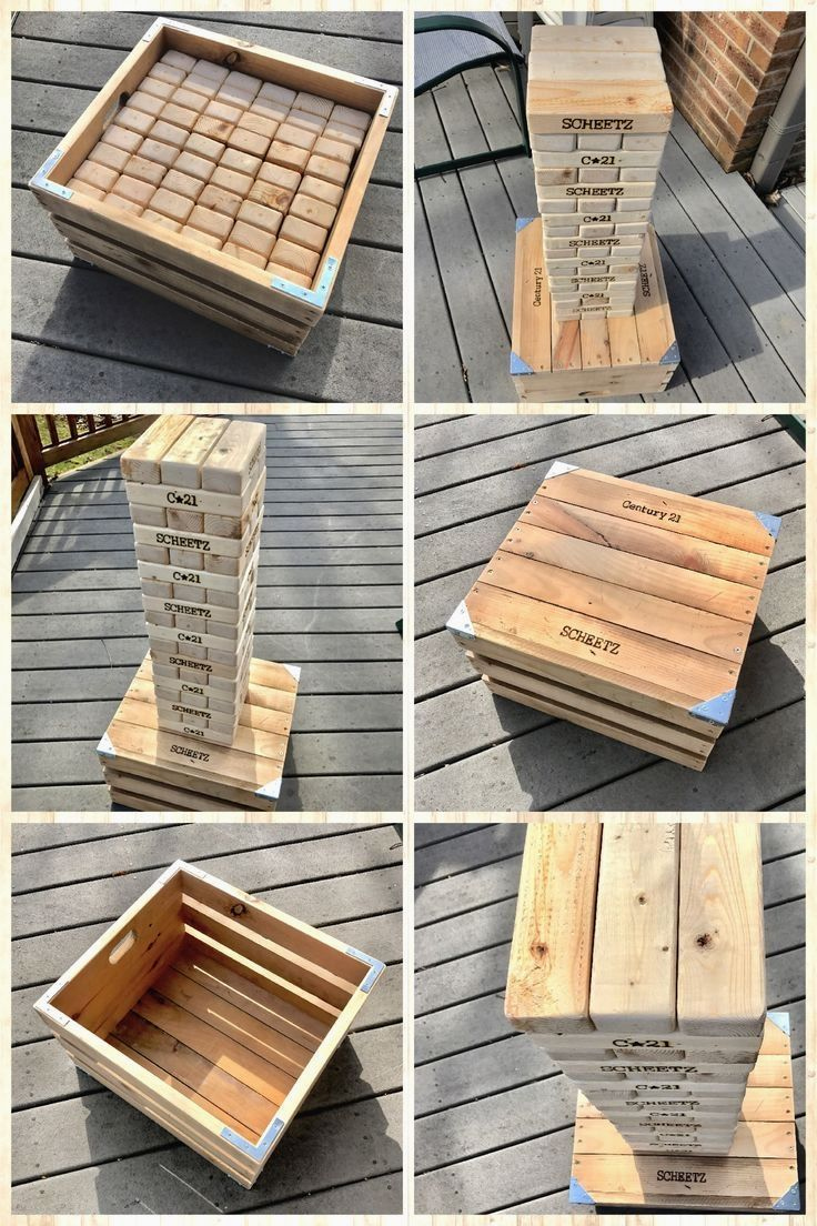 -Tallest Tower Possible -Play Jenga Fast, Tallest Tower -Create a recognisable b… #WoodWorking