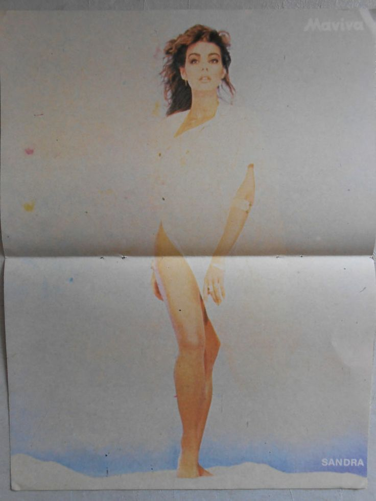EXTREMLY rare Greek CLIPPING  poster: SANDRA CRETU  A-HA  from the 80s'-90s'