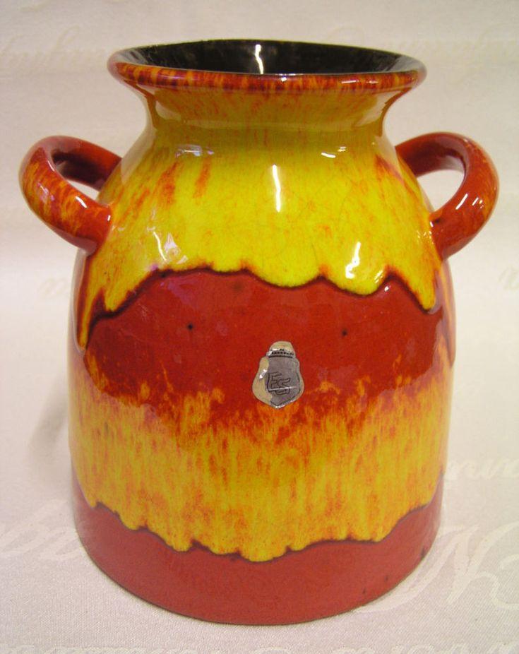 Wunderschöner Vintage ES-Keramik Krug ca. 70-er 80-er Jahre Emons & Söhne Vase  | eBay