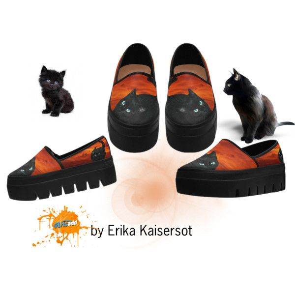 Cat and Red Sky Women Platform Shoes. Worldwide #freeshipping buy on #artsadd #cats