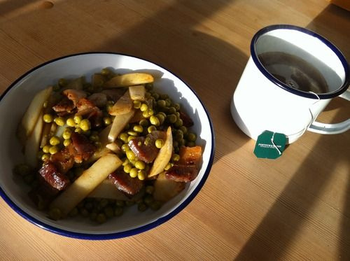Remaking the Young Flyer: (Winter comfort food: Chips, Peas 'n Maple Cured Lardons)
