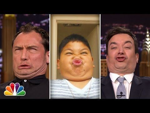 """▶ """"Tonight Show Funny Face Off"""" with Jude Law - YouTube"""