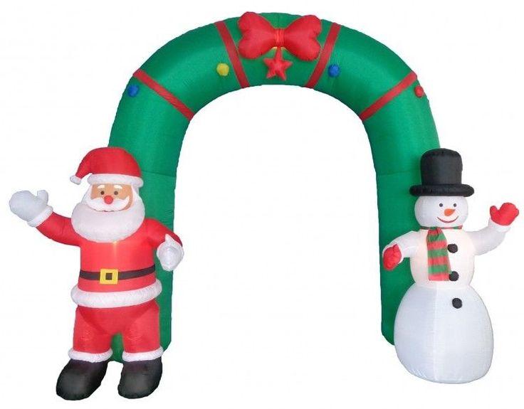 Christmas Santa Snowman Archway Airblown Inflatable 10' Yard Lighting Xmas Decor #easy_shopping08
