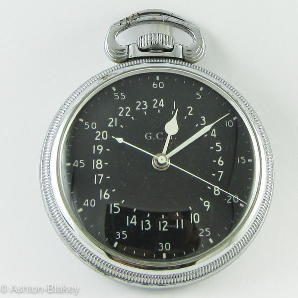Hamilton 4992B 16 size 22 jewel WW2 military aircraft watch with 24 hour  black dial marked