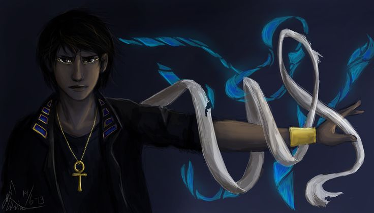 Anubis from Kane Chronicles (lol the god of toilet paper . . .)