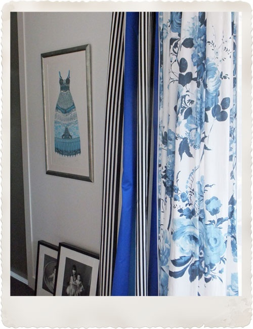 Curtains with two different fabrics love pattern for Drapes or curtains difference