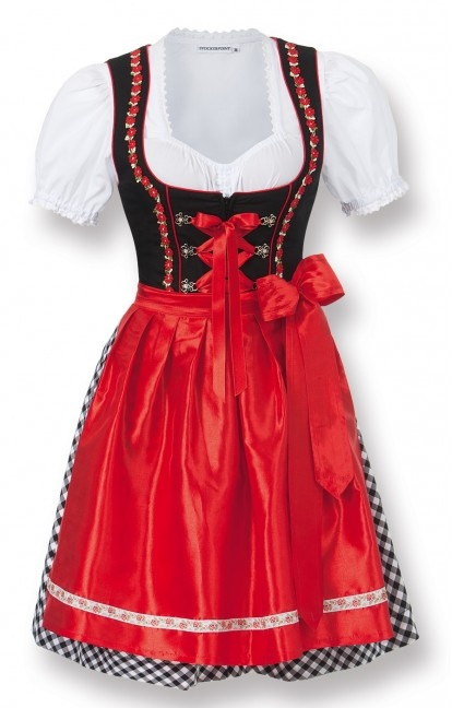 German mini dirndl 2pcs. Judy2 black 50 cm oktoberfest dirndl