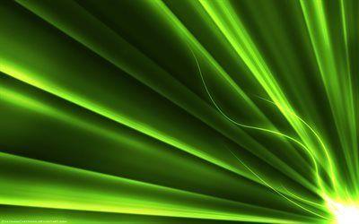 Scarica sfondi raggi verdi, creative, linea, neon