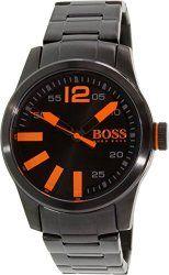 Hugo Boss Men's Boss Orange Paris Black Ion-Plated Stainless Steel Bracelet Watch 44mm 1513051