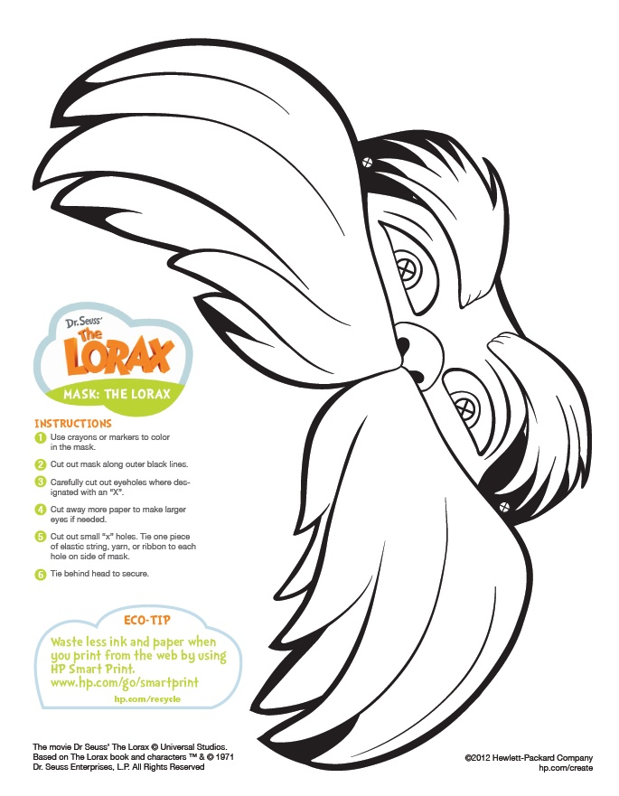 Canny image pertaining to lorax printable