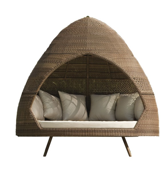 Get cozy in an outdoor alcove