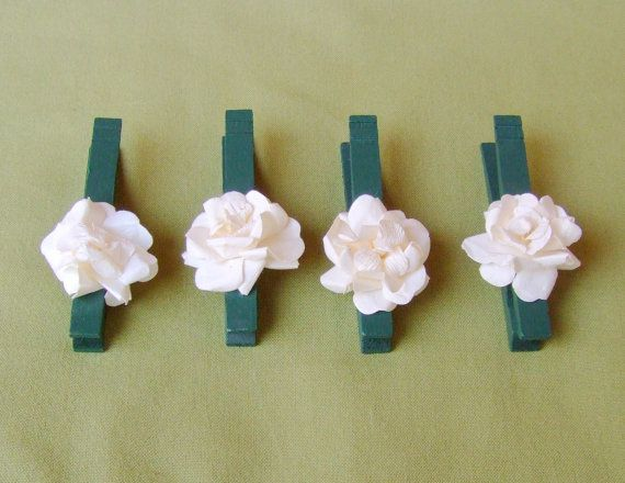 Woodland Wedding / Autumn Wedding / by CarolesWeddingWhimsy, This set of 12 Rustic Woodlan Wedding Forest Green Wedding Clothespin Place card holders, wedding favors, can be found here https://www.etsy.com/listing/130259610/woodland-wedding-autumn-wedding-wedding