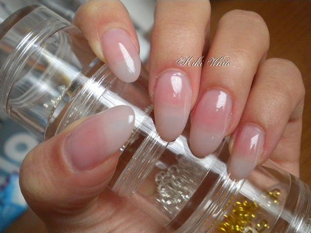 gel nails natural lookalmond acrylic nails hair nails and makeup Pinterest mshFFiJg