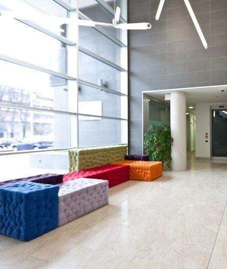 Hangout area in Camplus's Turro campus in Milan