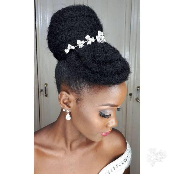 40 Elegant Natural Hair Updos For Black Women Coils And Glory Natural Hair Wedding Natural Hair Bride Natural Bridal Hair