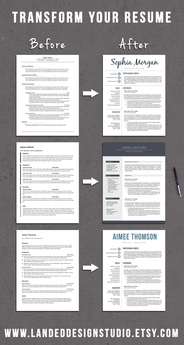 165 Best Resume Templates Images On Pinterest Resume Templates