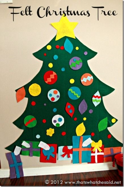 278 best felt christmas crafts images on pinterest for Felt christmas crafts for kids