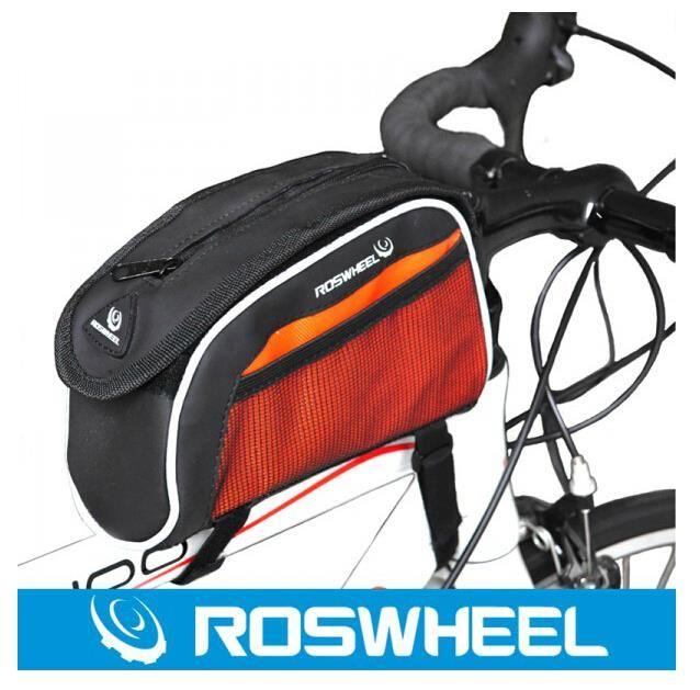 Купить товарBolsa велосипед мешок ROSWHEEL седло мешок горный велосипед Mochila монтана Bolsos acessórios пункт bicicleta mochilas в категории Велосипедные корзинына AliExpress.                                     Высокое качество ROSWHEEL горный велосипед велоспорт рамы Передняя мешок верхней тру