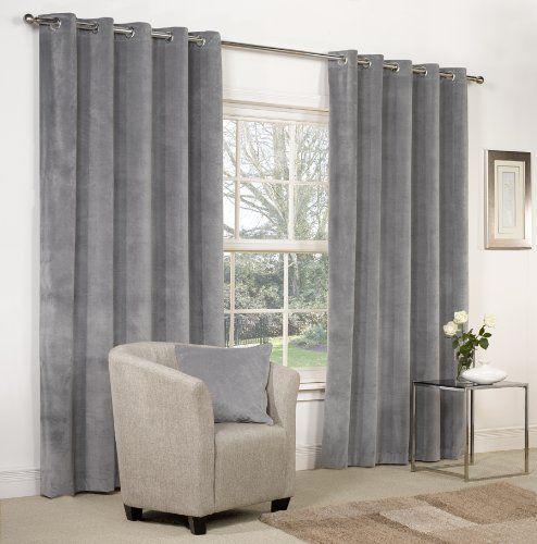 "Dove Grey Velvet Ring Top / Eyelet Curtains 66"" x 72"" - Fully Lined Mesola http://www.amazon.co.uk/dp/B00FNRC4HC/ref=cm_sw_r_pi_dp_UwRLwb1XT81PE"