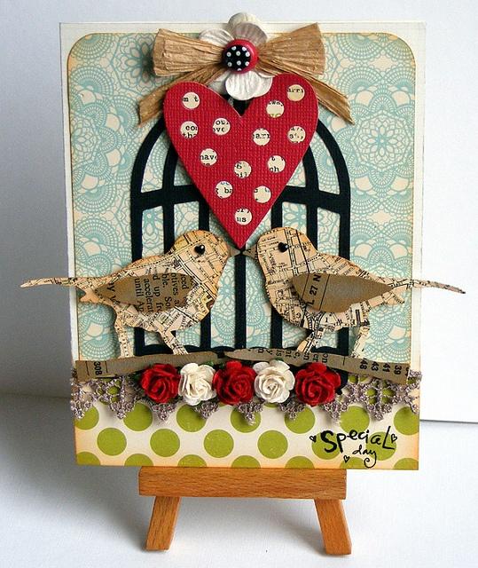 Love birds card by jo kill
