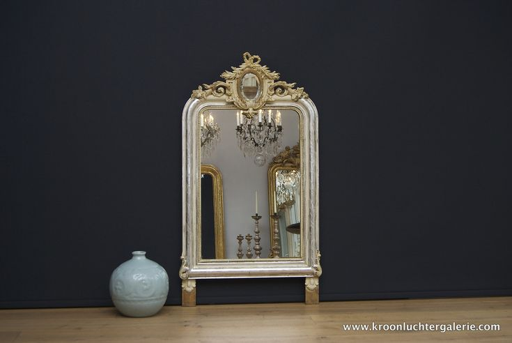 Antieke Franse spiegel #spiegel #antiek #antique #French #glas #bladzilver