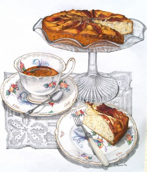 Apple Tea Cake & Recipe ~ Alexandra Nea
