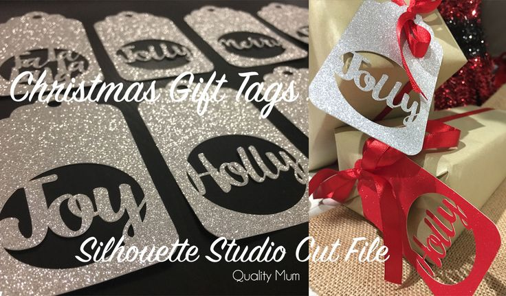 Christmas Gift Tags for Blogmas - Free Silhouette Studio Cut File for Personal Use Only.