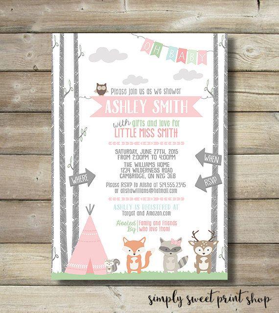 Girl Baby Shower Invite Invitation Oh Baby by SimplySweetPrintShop