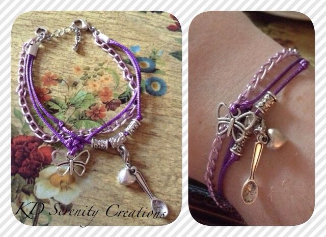 Skinny multi-strand Fibro charm bracelet. KD Serenity Creations www.kdserenity.com