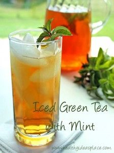 Iced Green Tea with Mint - Healthy Ideas Place
