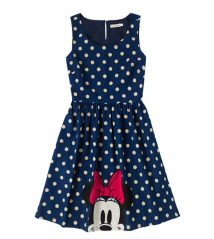 Cath Kidston Disney Ltd Ed Minnie Mouse Spot Barkcloth Dress Size 16 FREE POST   | eBay