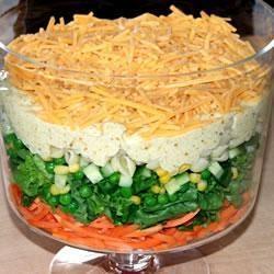 Pittige 7 laagjes salade