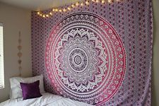 Ombre Indiano Mandala Hippie tapeçaria de parede que pendura Colcha De Cama jogar étnica