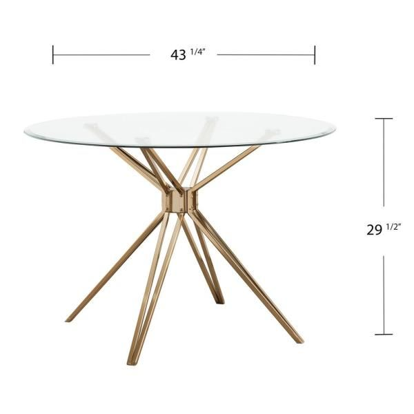 Gold Round Dining Table, Round Table Tops Home Depot