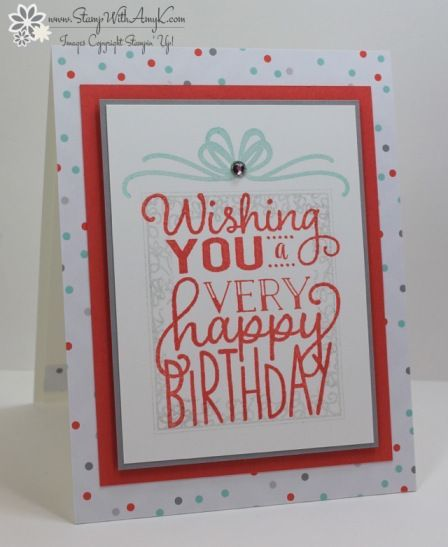 Stampin' Up! Big on Birthdays Sneak Peek for the Happy Stampers Blog Hop