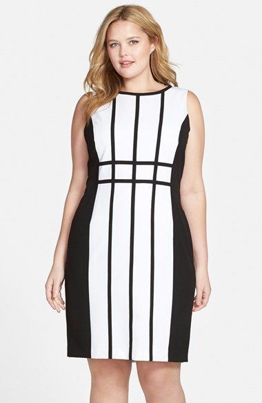 Calvin+Klein+Colorblock+Sheath+Dress+(Plus+Size)+available+at+#Nordstrom