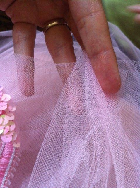 Gathering Tulle for DIY Tutu Table Skirt for Baby Shower