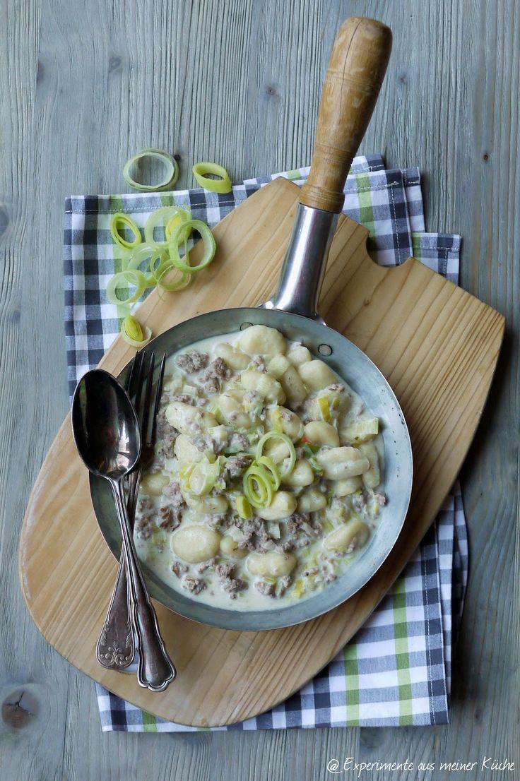 Experimente aus meiner Küche: Gnocchi in Käse-Hackfleisch-Soße