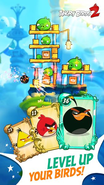 Angry Birds 2 v2.13.0 [Mod]Requirements: 4.1 and upOverview: The Angry Birds are back in the sequel to the biggest mobile game of all time! Angry Birds 2 starts a new era of slingshot gameplay with super stunning graphics, challenging multi-stage levels, scheming boss pigs and even more...