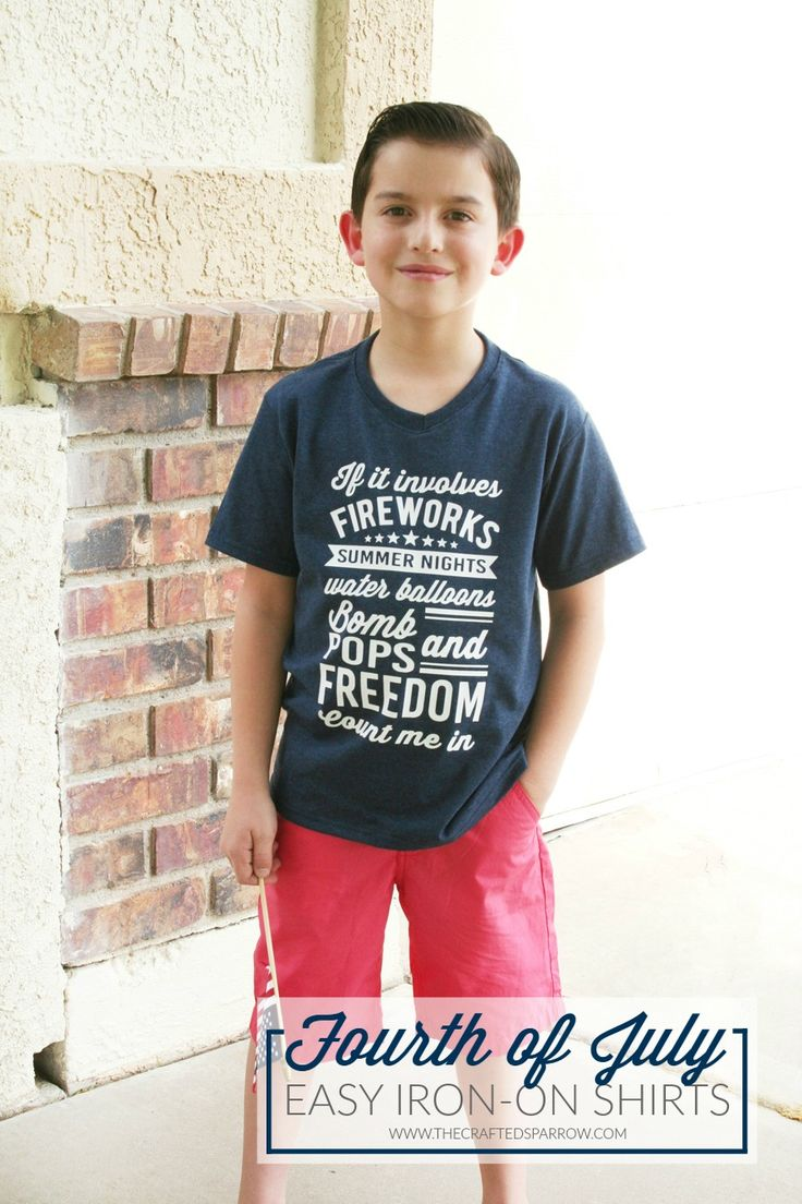 Celebrate summer with these Easy 4th of July Shirts, with Expressions Vinyl and just a few minutes you can create this fun shirt for kids or adults.