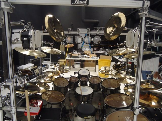 Mike Mangini Dream Theater Pearl Drum Kit