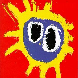 "Screamadelica. Maker: Primal Scream. 2 Slip Inside This House, 3 Don't Fight It, Feel It, 1 Movin' On Up. With one foot in Beggars Banquet-era Stones .the gospel-rock ""Movin' on Up"". and the other in the trippy soundscapes of rave culture .the Orb-produced ""Higher Than the Sun""., Primal Scream caught the mind-blown euphoria of Ecstacy better than anyone. Item dimensions: width: 494, height: 45. Frontman Bobby Gillespie had no singing voice to speak of, but his vision of cosmic..."