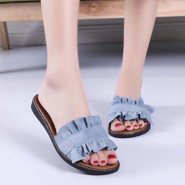 Woman Fashion Flat Slipper Beach Slippers Shoes
