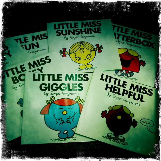 little miss books...we would race to the library at school to get there first. We all wanted to be the first to snag one of theses babies!